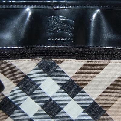 classic check tote bag